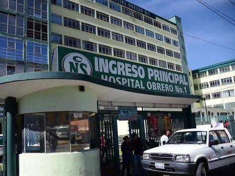 El paro se cumple por segundo día consecutivo en el Hospital Obrero de La Paz. Foto:Alejandra Rocabado