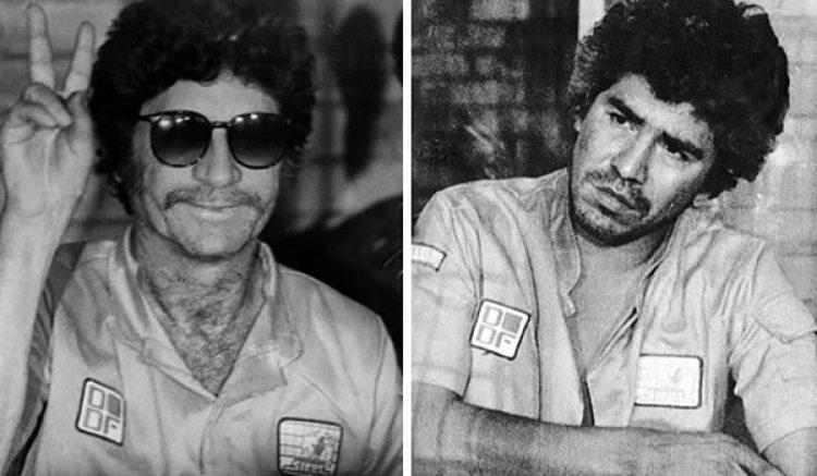 """Ernesto Fonseca Carrillo, """"Don Neto"""" (izquierda), un de los padrinos de Rafael Caro Quintero (derecha)."""