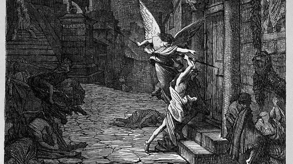 Foto: 'Peste en Roma', del  el pintor neoclásico francés Jules-Elie Delaunay. (Wikimedia Commons)