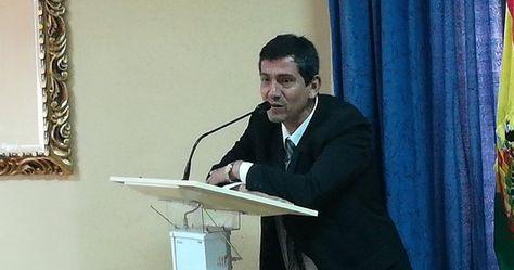 Hans Soruco, ahora excandidato al TCP, durante su examen en el Legislativo.