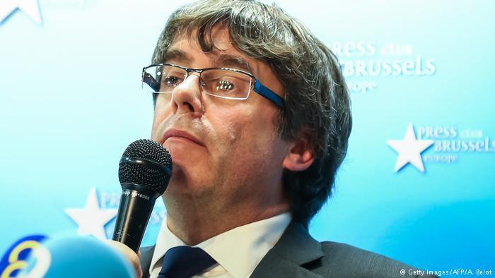 Belgien Brüssel - Carles Puigdemont bei Pressekonferenz (Getty Images/AFP/A. Belot)