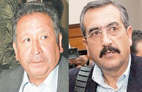 Los excomandantes Ciro Farfán y José Santiesteban