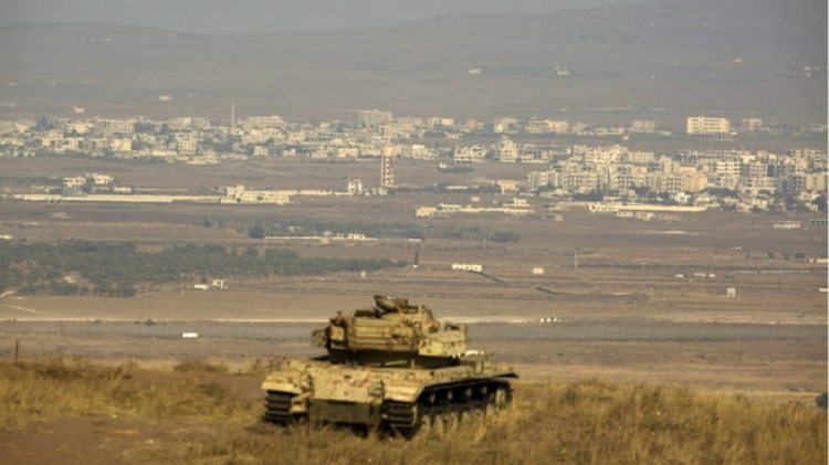Los Altos del Golán, donde cayó eldrone derribado por el ejército israelí.(EFE)