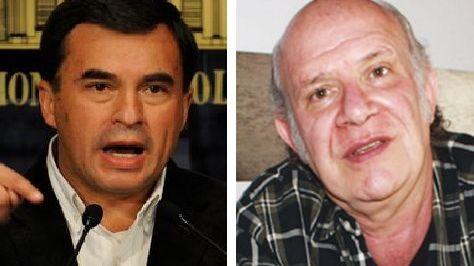 El embajador de Bolivia en Cuba, Ramón Quintana y el periodista Carlos Valverde.