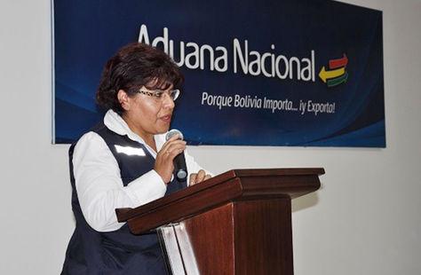Marlene Ardaya, presidenta de las Aduana Nacional.