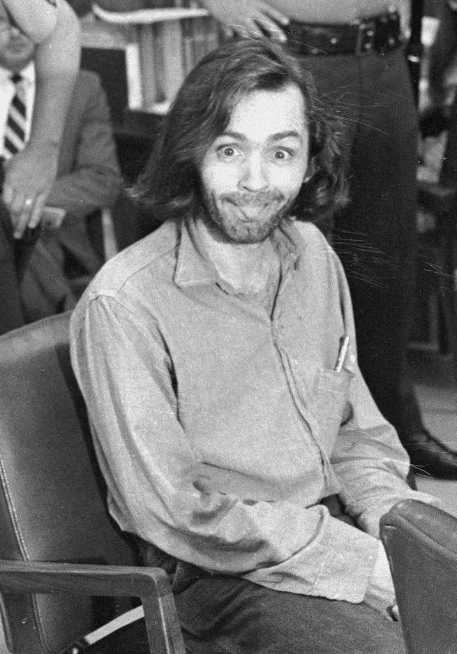 Manson en julio de 1970, en los tribunales de Santa Mónica