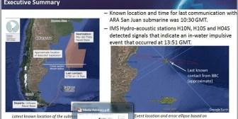 La explosión en el submarino se detectó desde África con micrófonos subacuáticos