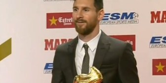 Messi recibió su cuarta Bota de Oro