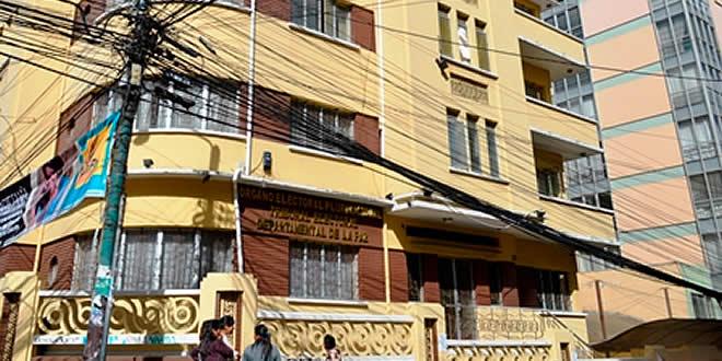 Resultado de imagen para El Tribunal Electoral Departamental (TED) de La Paz