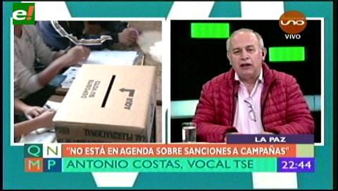 """Costas: """"No se multará a quienes hagan campaña por el voto nulo en tanto no afecten a los candidatos"""""""