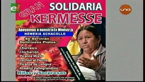El MAS realizará una Kermesse solidaria para pagar la fianza de Nemesia Achacollo