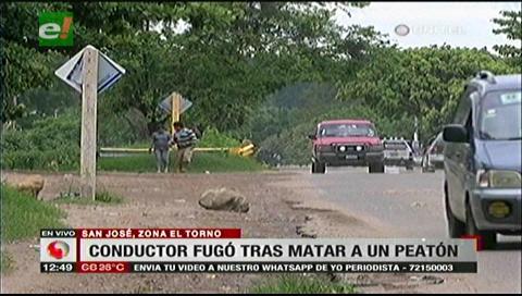Hombre muere tras ser arrollado en la vía a El Torno, el conductor huyó