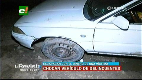 Hombre choca vehículo de delincuentes para detenerlos y lograr capturarlos