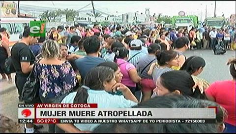Tráiler atropella y mata a una mujer de la tercera edad en la avenida Virgen de Cotoca