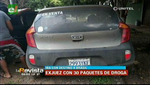 Un exjuez es encontrado con 30 paquetes de cocaína