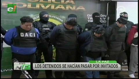 La Paz: Cae una banda que robaba en fiestas nocturnas