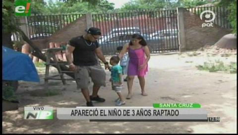 Santa Cruz: Aparece el niño de tres años raptado por su niñera