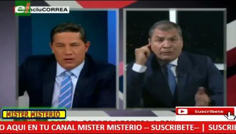 Periodista de CNN y expresidente Correa se enfrentan por la libertad de prensa