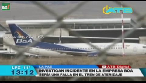 Continúa la investigación sobre el incidente en el aterrizaje del avión de BoA