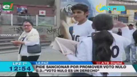 El MAS pide al TSE sancionar a quienes promuevan el voto nulo