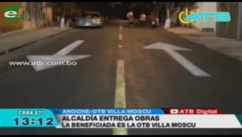 Alcaldía entregó asfalto y alumbrado en OTB Villa Moscú