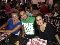 Laura Gonzales, Dani Ruela y Nina Hoyos