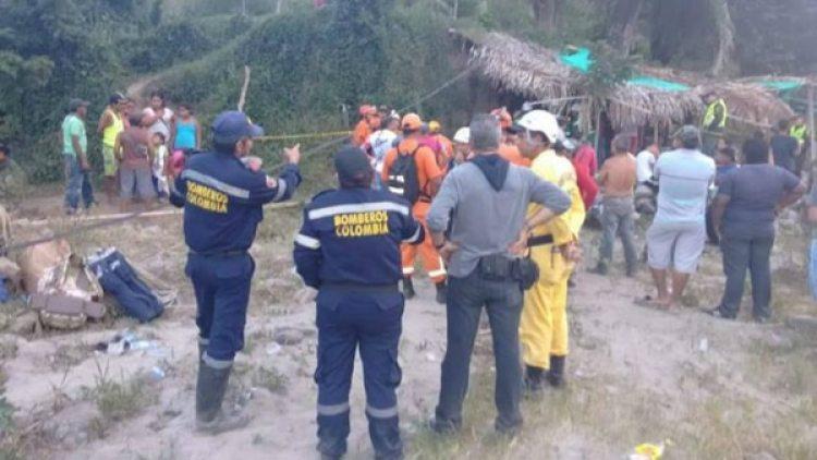 Lugar del accidente en Colombia. (Caracol Radio)