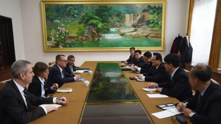 La primera reunión oficial en una gira de cuatro días de un alto funcionario de la ONU que no tenía lugar desde 2010 (AFP)