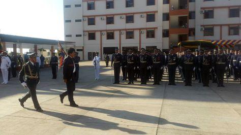 El presidente Evo Morales en la graducación de militares de la Escuela Antiimperialista. Foto:Ministerio de Defensa