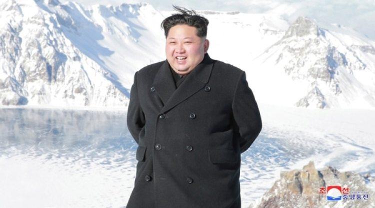 Kim Jong-un en el MontePaektu (Reuters)