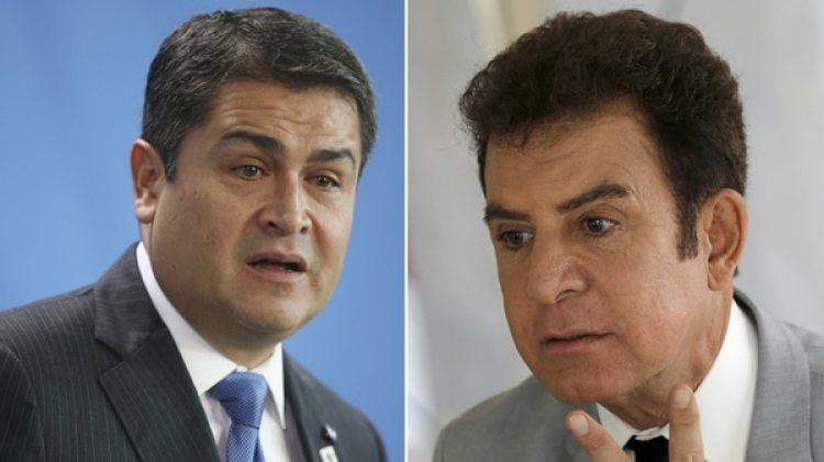 Juan Orlando Hernández y Salvador Nasralla (Getty)