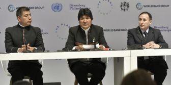 Presidente de Bolivia plantea que el dinero contra el cambio climático lo maneje el Estado