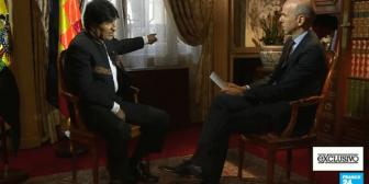 """Evo a periodista francés: """"¿Cómo qué dictador? Dígame…"""""""
