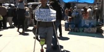 Víctima de la Guerra del Gas pide ayuda para sobrevivir