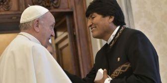 Presidente Morales se reúne con el papa Francisco y recuerda su apoyo a la causa marítima