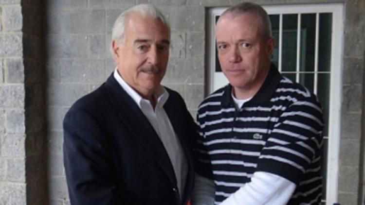 Popeye junto a Andrés Pastrana, uno de los tantos políticos secuestrados por el cártel de Medellín