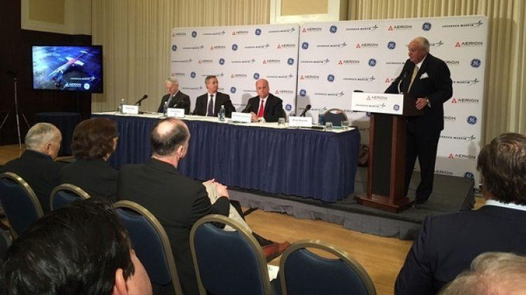 """La conferencia de prensa de presidentación del Aerion AS"""", este viernes, en Washington DC"""