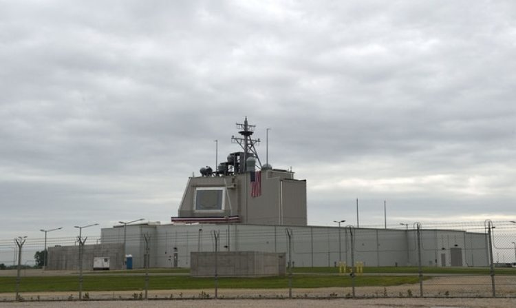 El sistema Aegis Ashore en la base militar estadounidense de Deveselu, Rumania. (Daniel Mihailescu/AFP via Getty Images)