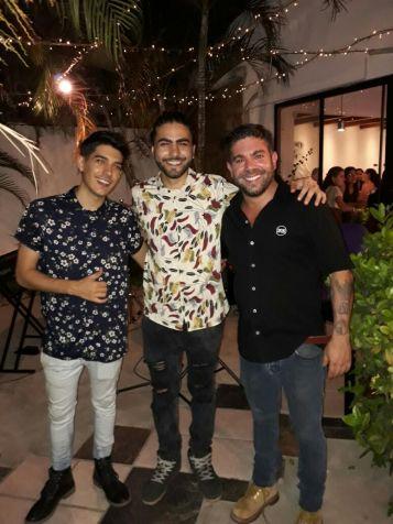 Leandro Castro, Exequie Lizondo y Juan Manuel D'Arruda