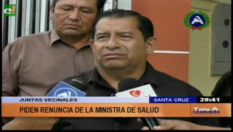 Santa Cruz: Fejuve pide la renuncia de la ministra de Salud