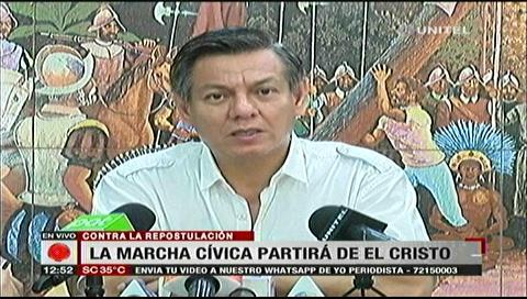 Presidente cívico cruceño llama a unirse a la marcha de este viernes de forma pacífica