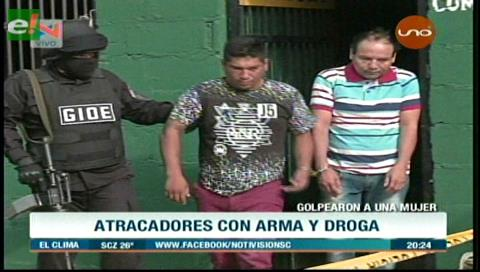 Aprehenden a dos supuestos narcotraficantes que atracaron a una policía de la Felcn