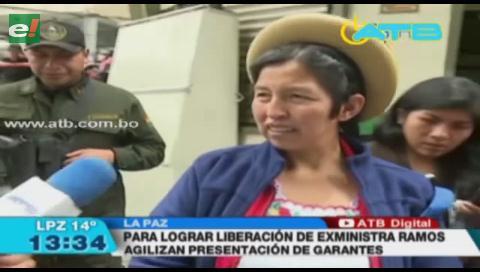Agilizan presentación de garantes para lograr la liberación de Julia Ramos