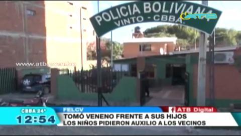 Mujer se quitó la vida frente a sus tres hijos en Cochabamba
