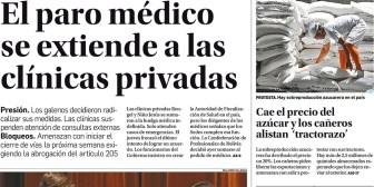 Portadas de periódicos de Bolivia del domingo 10 de diciembre de 2017