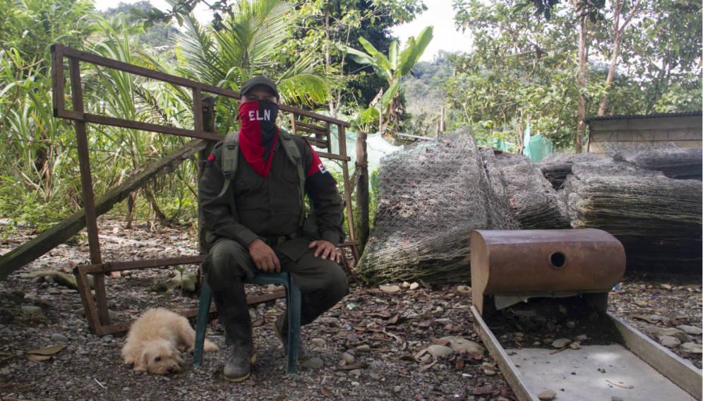 Foto: El Comandante Julio, del Frente Ernesto Che Guevara del ELN. (Foto: H. Estepa)