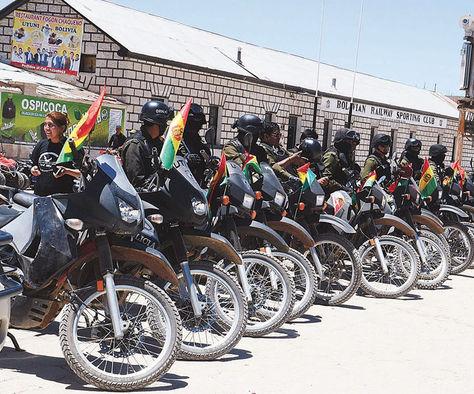 Los policías prestarán seguridad durante el paso del Dakar