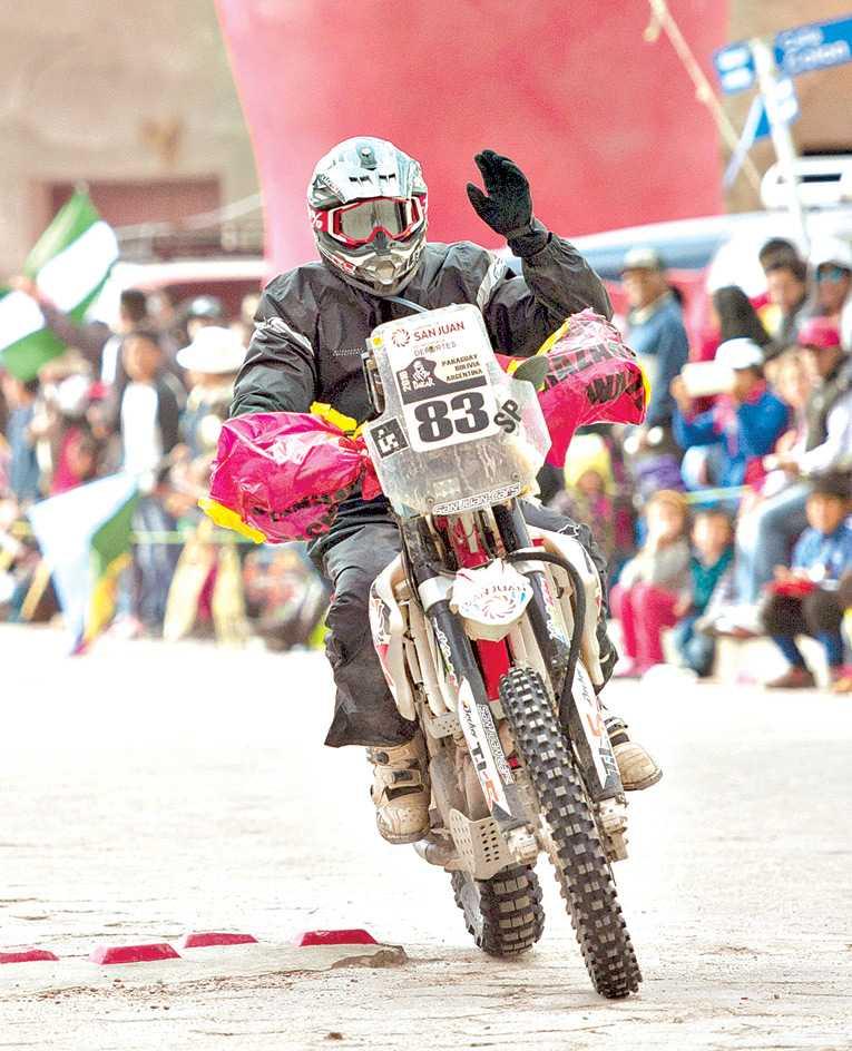 Nicolás Fuchs terminó tercero en la primera etapa del Rally Dakar 2018