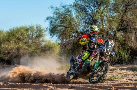 Juan Carlos Salvatierra durante el Rally Dakar 2017. Salvatierra Racing