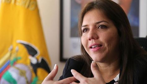 María Alejandra Vicuña, la nueva vicepresidenta de la República del Ecuador. Foto: El Comercio de Ecuador